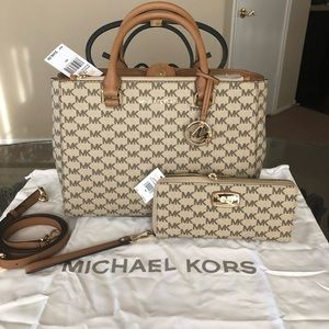 🆕 Michael Kors Kellen Satchel With Wallet